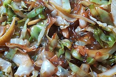 甘蓝炒粉(大头菜粉条)