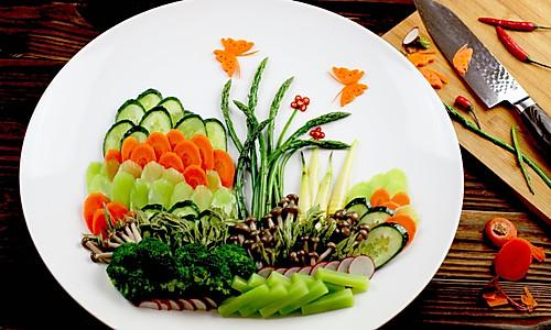 """素食冷拼《春意盎然》#""""宴""""遇灵山,拈花品素#的做法"""