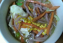 紫薯面汤的做法