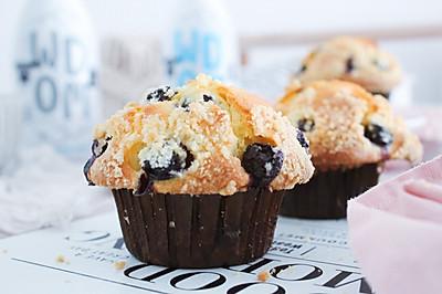 蘑菇頭藍莓瑪芬蛋糕