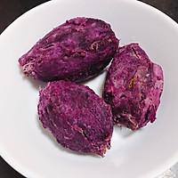 Q弹软糯椰蓉紫薯糯米糍 宝宝喜欢的简单快手小吃下午茶的做法图解1