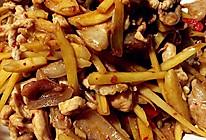 泡姜丝炒肉的做法