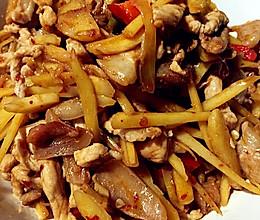 泡姜丝炒肉