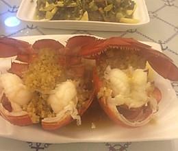 蒜蓉澳洲大龙虾的做法