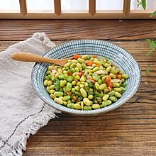 #快手又营养,我家的冬日必备菜品#清炒毛豆