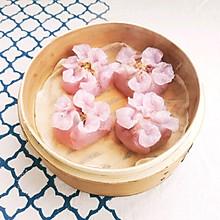 水晶花朵蒸饺