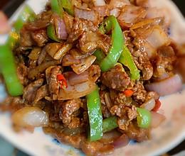 洋葱尖椒爆炒牛肉的做法