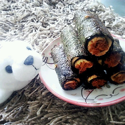烤箱版~海苔肉松蛋卷