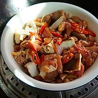 """香菇蒸滑鸡----""""蒸的好吃哦""""的做法图解7"""