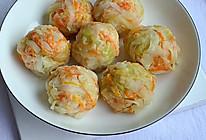#宅家厨艺 全面来电#蒸一蒸就能吃的包菜团子的做法