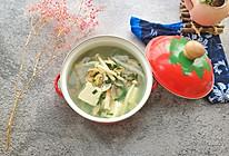 #冰箱剩余食材大改造#花蛤菠菜豆腐汤的做法