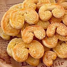 """#美食说出""""新年好""""#免开酥酥脆到掉渣的手抓饼蝴蝶酥"""