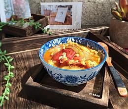 番茄丝瓜蛋汤的做法