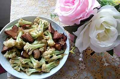 熏肉花菜快炒