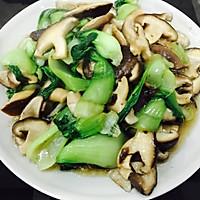 香菇炒油菜的做法图解7
