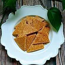 #美食新势力#蛋白芝麻薄饼
