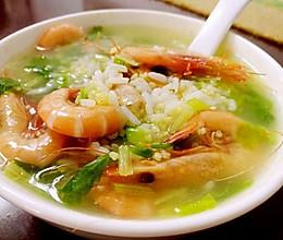虾粥(海鲜粥)小米粥的做法