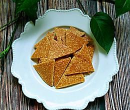 #美食新势力#蛋白芝麻薄饼的做法
