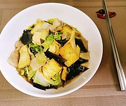 家常娃娃菜炖豆腐的做法