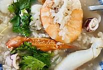 咸鲜什锦海鲜粥的做法