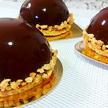巧克力半球慕斯镜面蛋糕