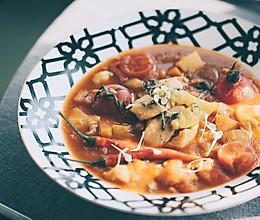辣味番茄龙利鱼汤的做法