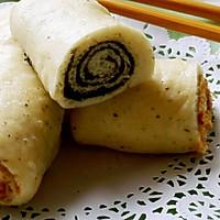 中式花卷--黑芝麻杂粮卷