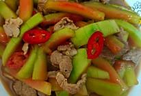 西瓜皮炒肉的做法