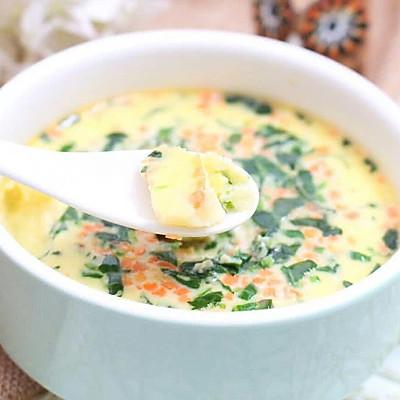 奶酪时蔬蒸蛋羹 宝宝健康食谱