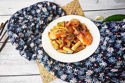 鲜虾炒年糕