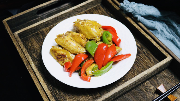彩椒蚝油焖鸡翅