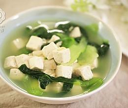 青菜豆腐汤-迷迭香的做法