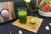 甜蜜蜜菠菜苹果汁 美的大口机原汁机的做法