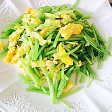 青菜也分部位吃-茼蒿鸡蛋