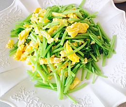 青菜也分部位吃-茼蒿鸡蛋的做法