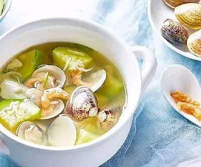 黃蛤蔬菜湯