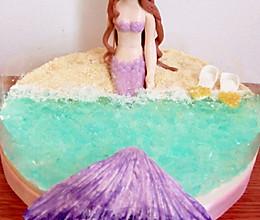 美人鱼海洋慕斯蛋糕#夏日时光#的做法