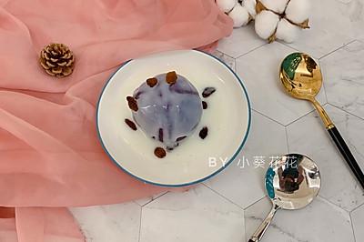 快手早餐酸奶紫薯泥