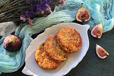 鸡胸肉蔬菜燕麦饼