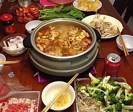 涮羊肉 火锅 家庭聚餐 晚餐的做法