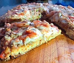 #精品菜谱挑战赛#【新酮学报道】生酮低碳水免烤箱版仿海鲜披萨的做法