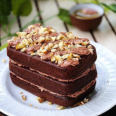 黑巧克力栗子蛋糕
