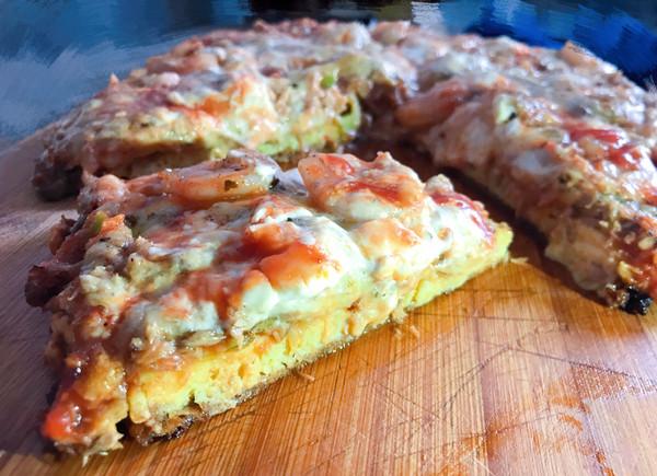 #精品菜谱挑战赛#【新酮学报道】生酮低碳水免烤箱版仿海鲜披萨