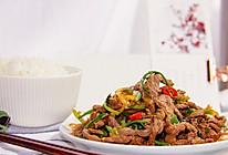 超下饭的香菜小炒黄牛肉的做法