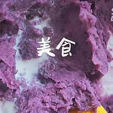 #紫薯夹心小蛋糕#