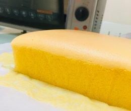 #餐桌上的春日限定#古早味蛋糕(烫面水浴法 8寸方盘)的做法