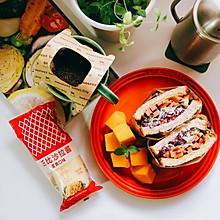 #丘比三明治#全麦蔬菜火腿三明治