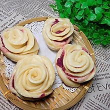 紫薯馅花馒头