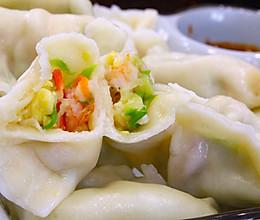 #憋在家里吃什么#鲜美的西葫芦鸡蛋虾仁馅儿饺子的做法
