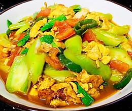 南方家常菜-丝瓜番茄炒鸡蛋的做法